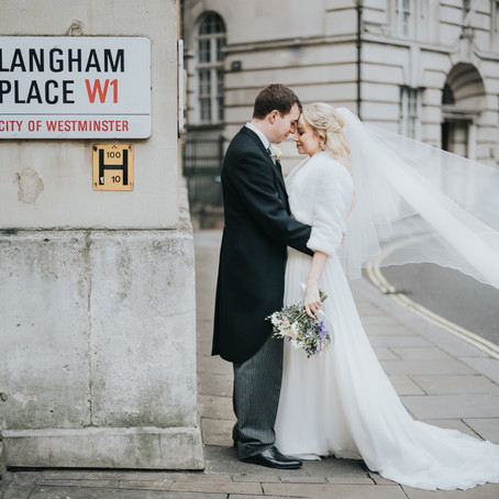 Camilla & Pete's Preview - The Langham Wedding Photography - Poppy Carter Portraits - London Wedding