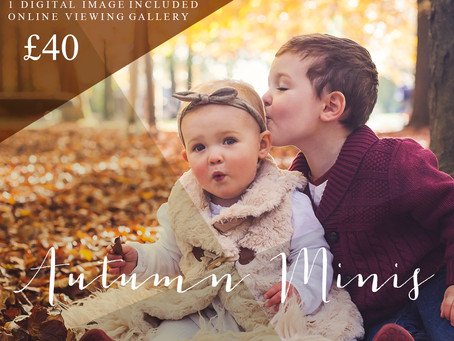 Autumn & Christmas Mini Sessions are here!