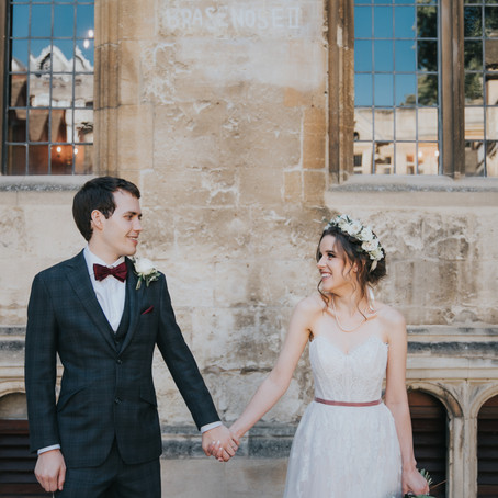 Bodleian Libraries Wedding Photography - Oxford Wedding Photography - Abi & Gavin - Poppy Carter