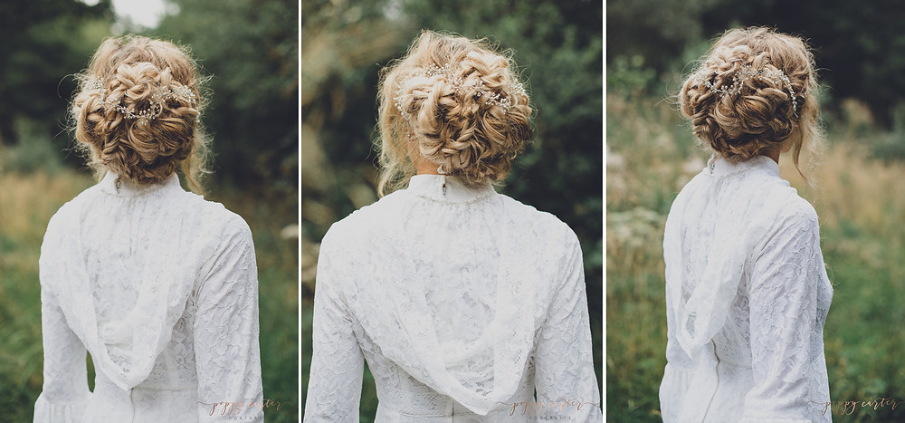 Poppy Carter Portraits Alternative Wedding Photography Buckinghamshire Aylesbury Bicester Oxford Cotswolds - Hair By Holly Vintage Up Do's