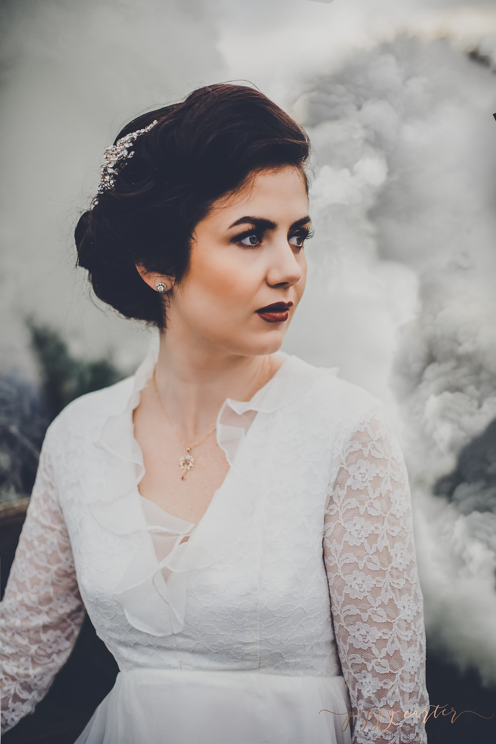 Poppy Carter Portraits Alternative Wedding Photography Buckinghamshire Aylesbury Bicester Oxford Cotswolds - Smoke Bombs