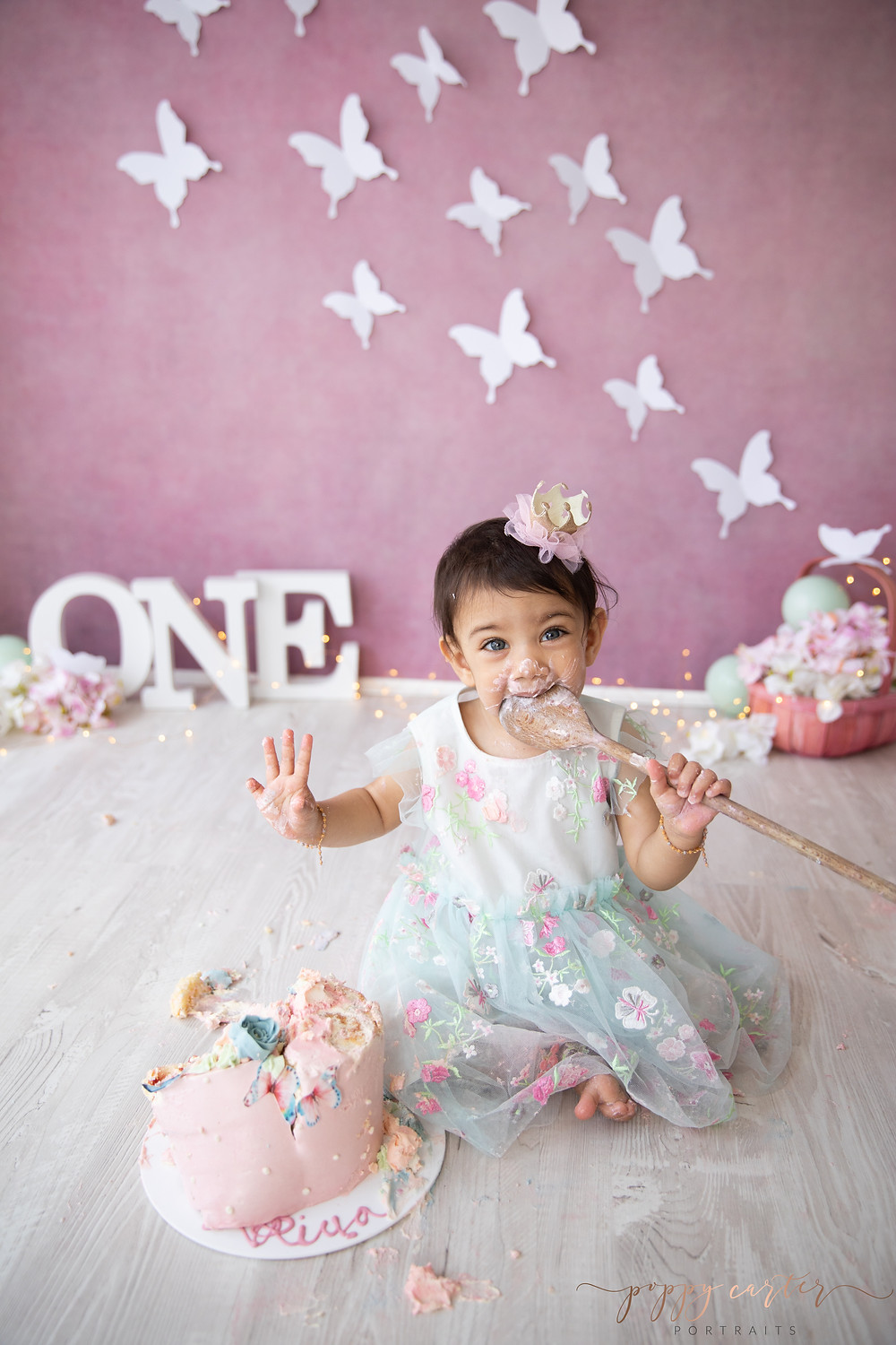 Poppy Carter Portraits Cake Smash Photography Buckinghamshire