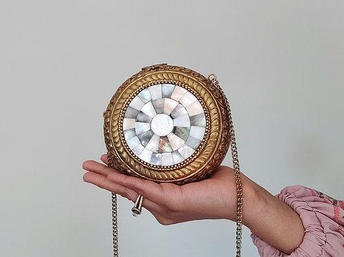 Round Marble Vintage Clutch