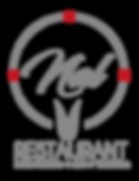 logotipo en gris con iconos en rojo al 1