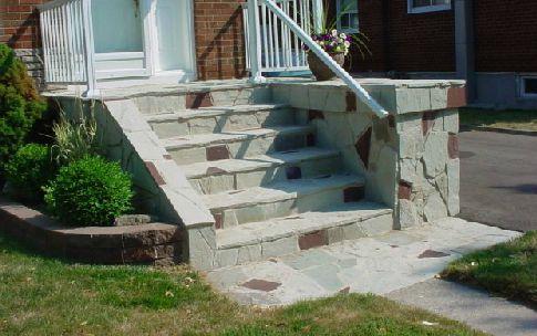 Island Cut Stone Stairs