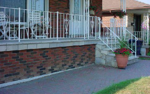 Island Cut Stone Porch