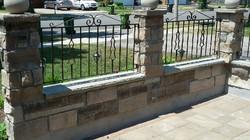 Island Cut Stone railings