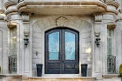 Island Cut Stone Doors
