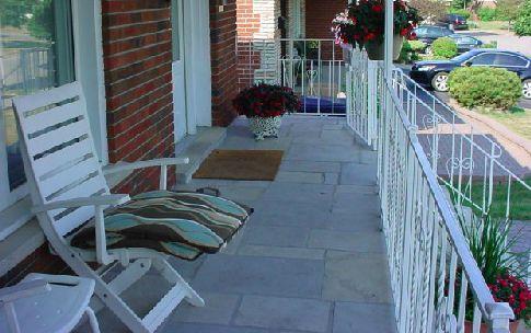 land Cut Stone Porch
