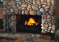 Island Cut Stone Fireplaces
