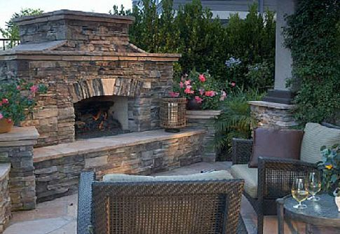 ICS Culture Stone Fireplace