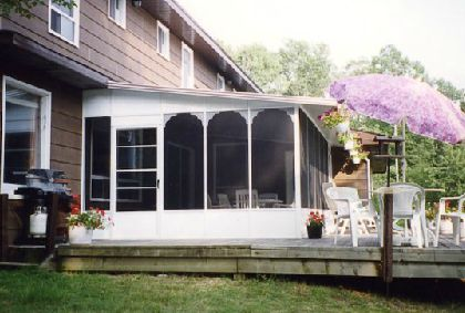 Island Cut Stone Enclosure Sunrooms