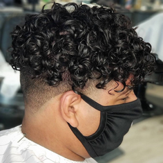 Men's Curled Hair Styles are in fashion in San Antonio TX!