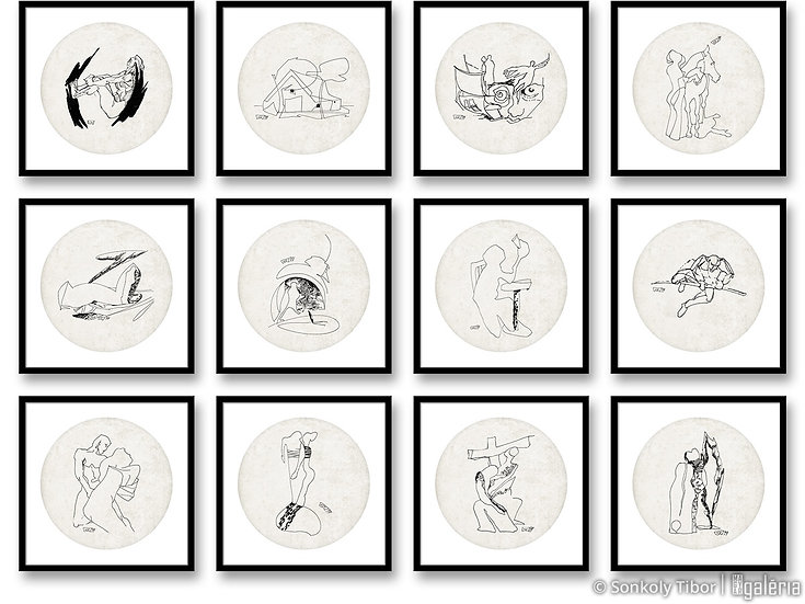 Illusztráció sorozat (teljes) | Sonkoly Tibor