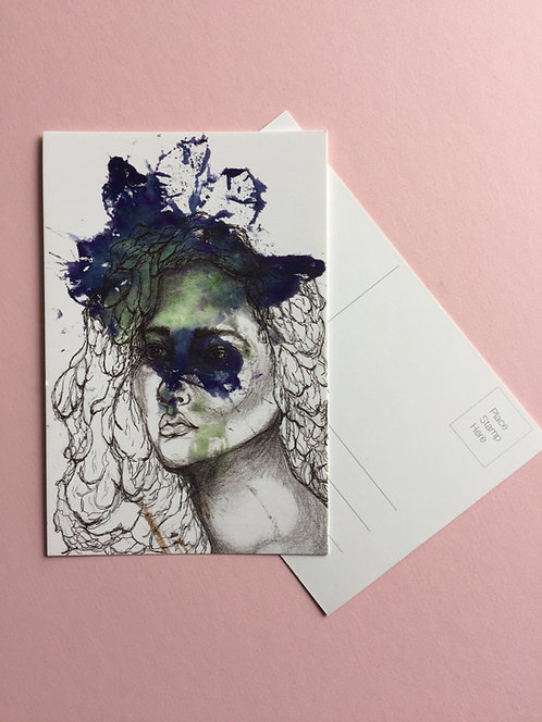 Watcher of the Cypress Postcard