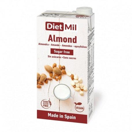 Dietmil, Almond milk (sugar free) 1L