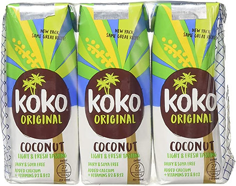 Koko, Coconut milk original with Calcium 3x250ml