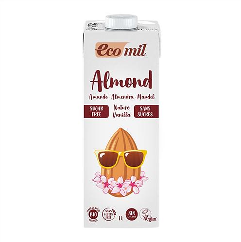 Ecomil, Almond milk with vanilla (sugar free) bio 1L