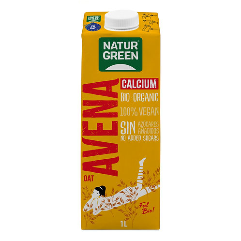 Natur green, Oat milk with calcium bio 1L