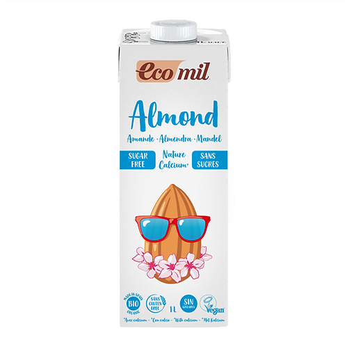 Ecomil, Almond milk with Calcium (Sugar free) bio 1L