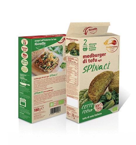 Mediterranea, Spinach tofu burger bio 180g