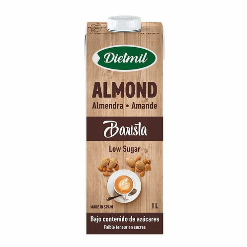 Dietmil, Barista Almond milk (low sugar) 1L