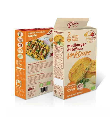 Mediterranea, Vegetables Tofu Burger 180g