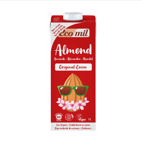 Ecomil, Almond milk with Cacao bio 1L