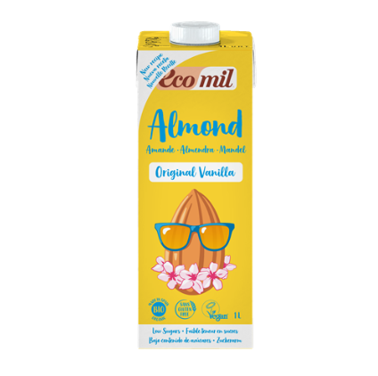 Ecomil, Almond milk with vanilla & agave bio 1L