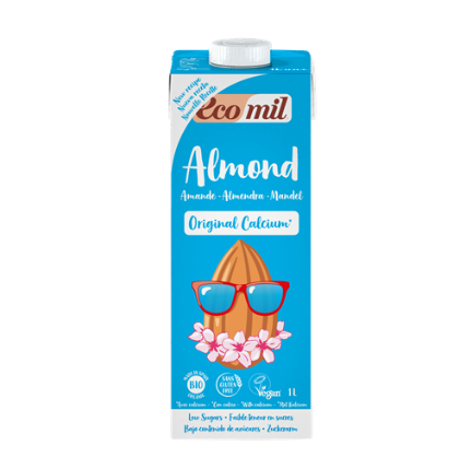 Ecomil, Almond milk with Calcium bio 1L