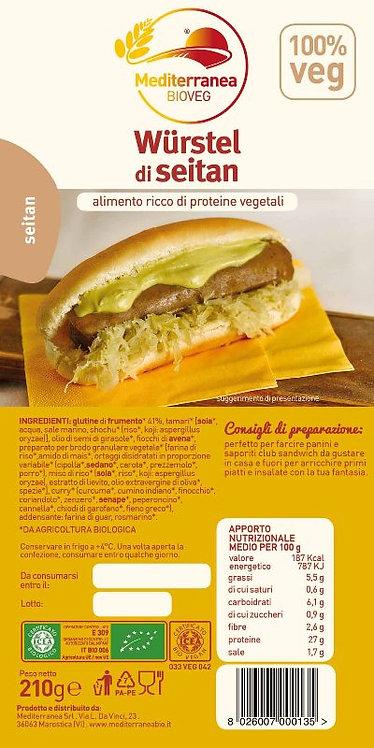 Mediterannea, Seitan Sausages bio 210g