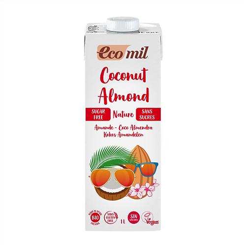 Ecomil, Coconut - Almond milk (sugar free) bio 1L