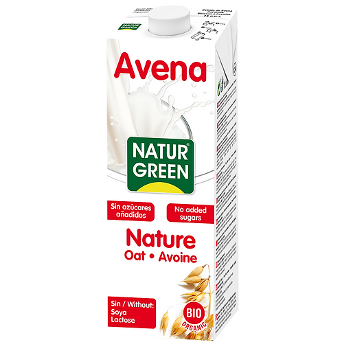 Natur green, Oat milk natural bio 1L
