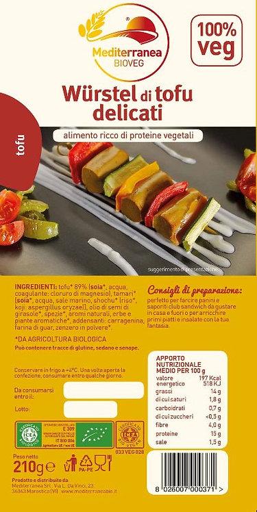 Mediterranea, Delicate Tofu Sausages bio 210g