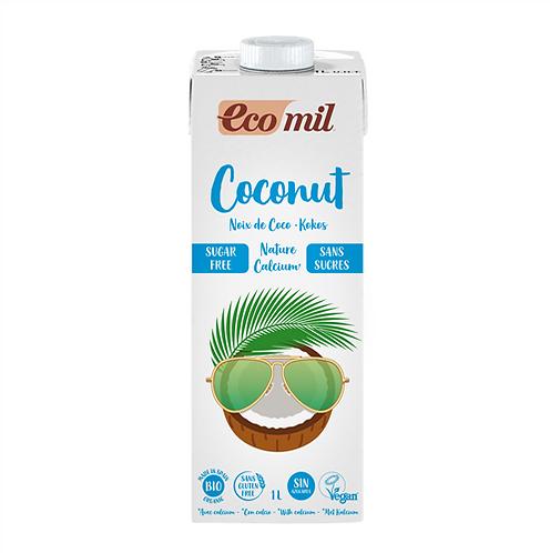 Ecomil, Coconut milk with Calcium (sugar free) bio 1L