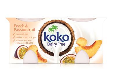 Koko, Yogurt Peach - Passion fruit (2x125g)