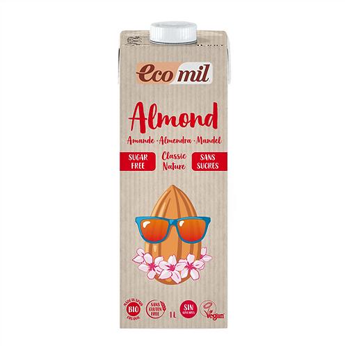 Ecomil, Almond milk classic (sugar free) bio 1L