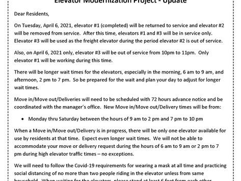 Update  -  Elevator Modernization Project