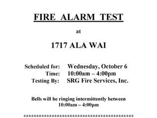 Fire Alarm Test