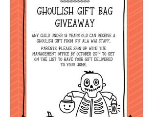 Ghoulish Gift Bag Giveaway