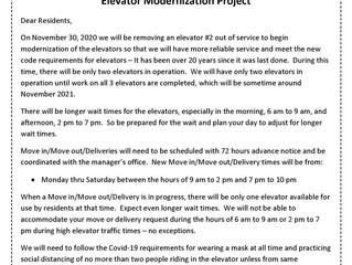 Elevator Modernization Project  112020