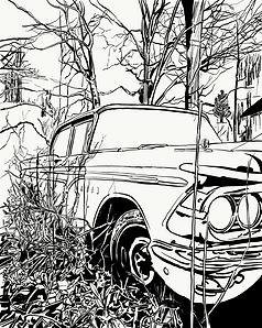 abandonned car