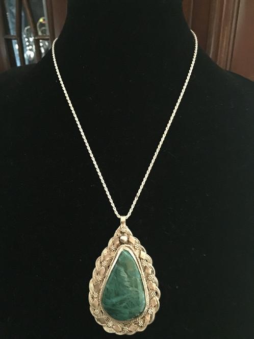 Sterling silver handmade large eilat pendant necklace israel sterling silver handmade large eilat pendant necklace israel aloadofball Image collections