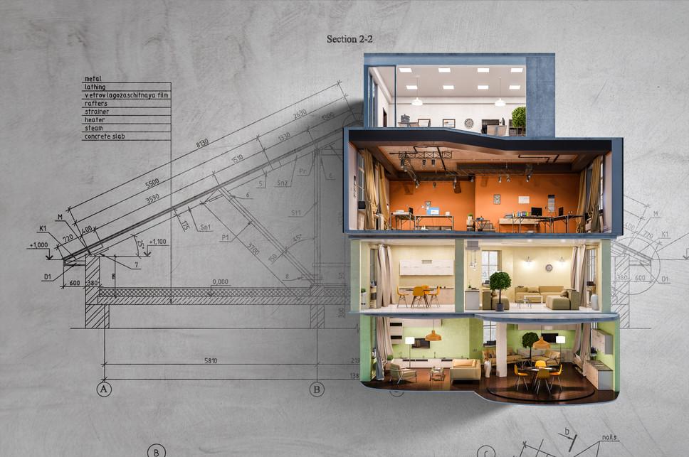 Real estate concept . Mixed media.jpg