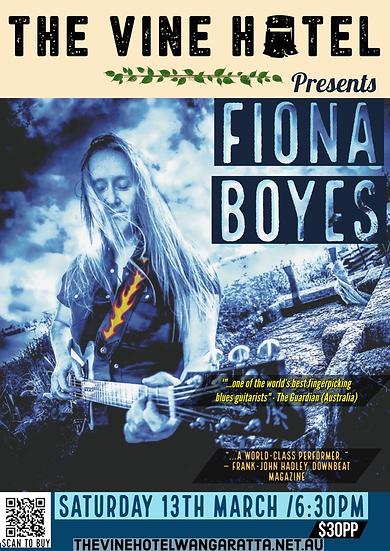 Fiona Boyes 20th Anniversary Tour 13/03
