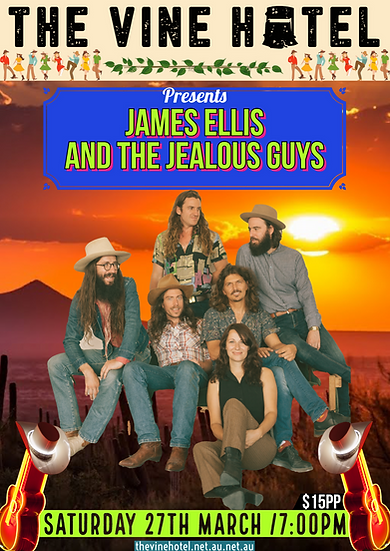 James Ellis and the Jealous Guys Live @ The Vine 27TH/03