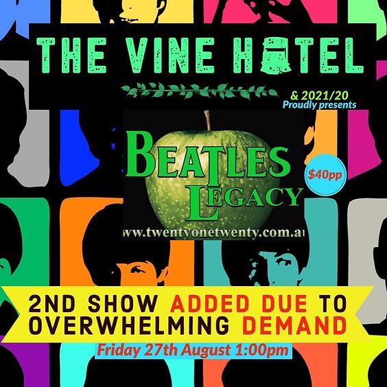 Beatles Legacy Musical Extravaganza Matinee 27/08 1pm