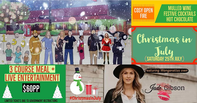 Christmas in July at The Vine Ft. Jade Gibson 25/7