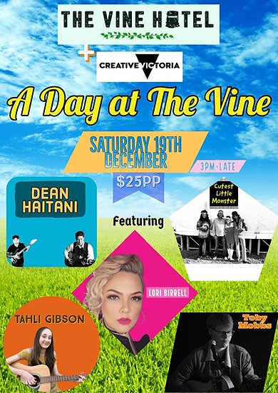 A Day At The Vine 19/12 3pm