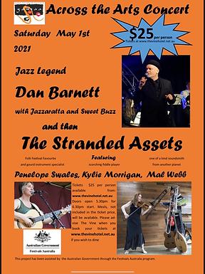 Across the Arts concert Ft Dan Barnett & The Stranded assets 01/05